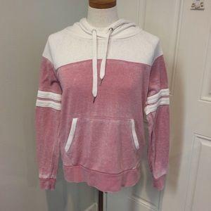 Mauve cream hoodie dusty rose hooded sweatshirt